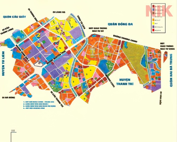 Bản đồ quy hoạch sử dụng đất Hà Nội tại Hà Đông