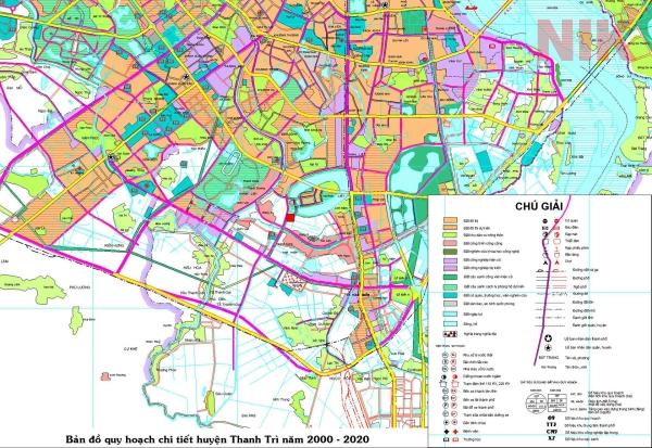 Bản đồ quy hoạch sử dụng đất Hà Nội tại Thanh Trì