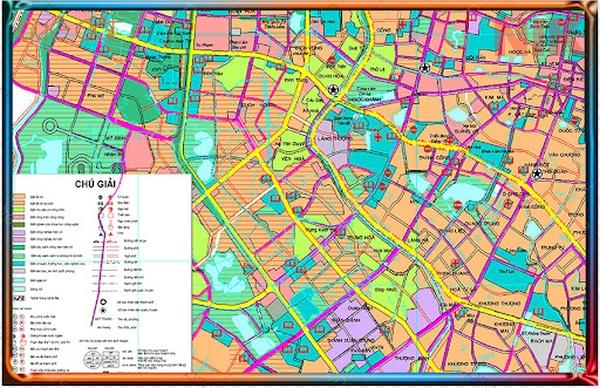 Bản đồ quy hoạch sử dụng đất Hà Nội tại Ba Đình