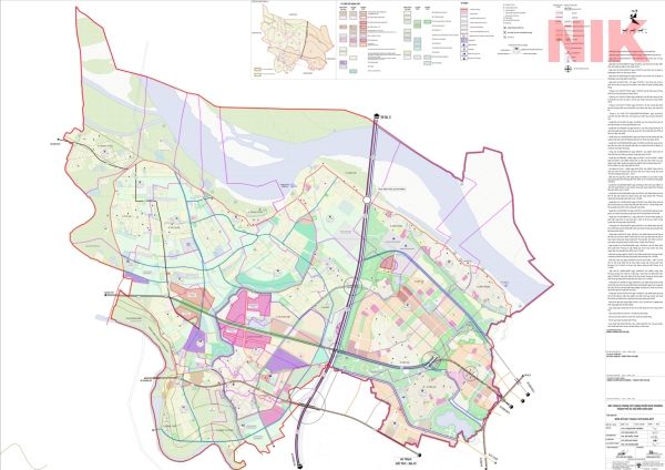 Bản đồ quy hoạch sử dụng đất Hà Nội tại Đan Phượng
