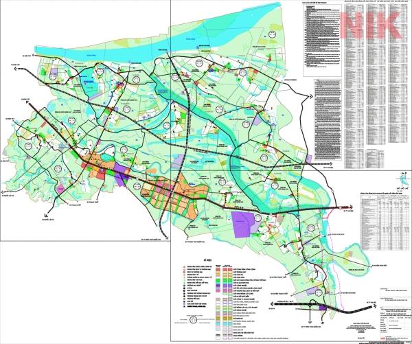 Bản đồ quy hoạch sử dụng đất Hà Nội tại Phúc Thọ