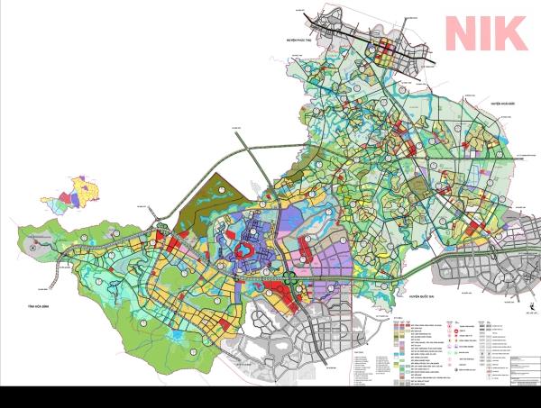 Bản đồ quy hoạch sử dụng đất Hà Nội tại Thạch Thất