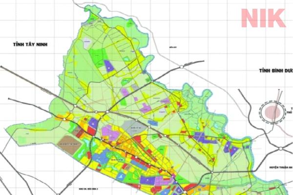 Bản đồ quy hoạch sử dụng đất huyện Củ chi về giao thông