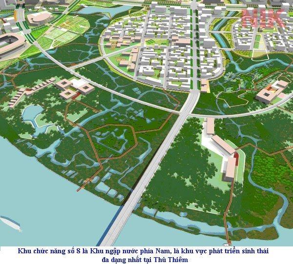 Khu chức năng số 8 là nơi dùng để bảo tồn và phát triển hệ sinh thái
