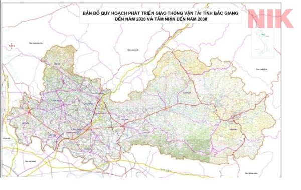 Bản đồ quy hoạch sử dụng đất tỉnh An Giang về quy hoạch phát triển giao thông