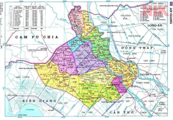 Bản đồ quy hoạch sử dụng đất tỉnh An Giang