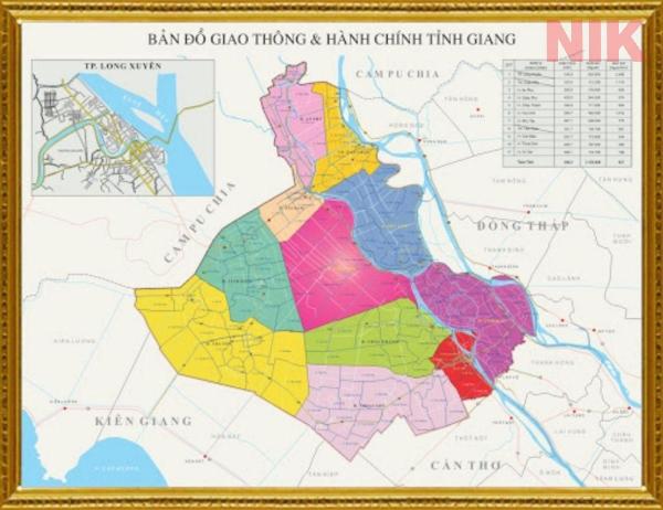 Bản đồ giao thông tỉnh An Giang