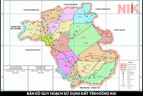 Tỉnh Đồng Nai nằm tại vùng Đông Nam Bộ - Bản đồ quy hoạch sử dụng đất tỉnh Đồng Nai