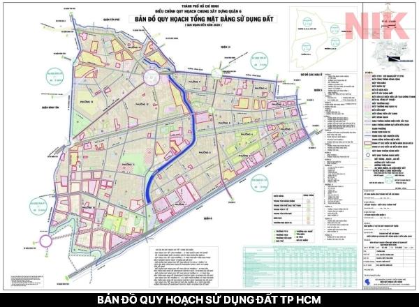 Bản đồ quy hoạch sử dụng đất TP HCM tính đến năm 2025