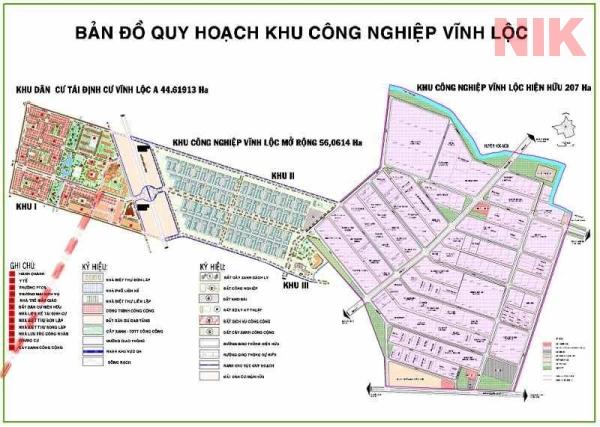 Bản đồ quy hoạch sử dụng đất Vĩnh Lộc A và ưu thế