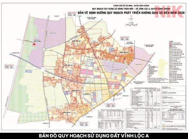 Bản đồ quy hoạch sử dụng đất Vĩnh Lộc A