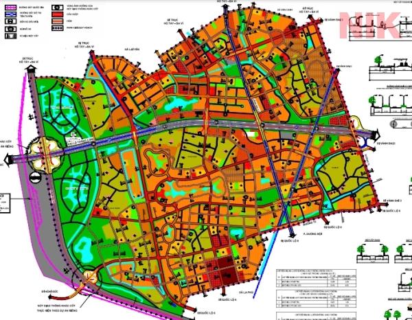Bản quy hoạch chi tiết huyện Hoài Đức