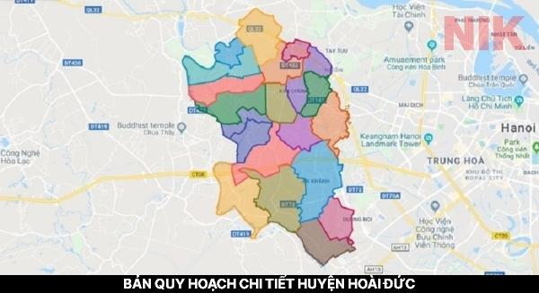 Thông tin chi tiết về địa giới hành chính huyện Hoài Đức - Bản quy hoạch chi tiết huyện Hoài Đức