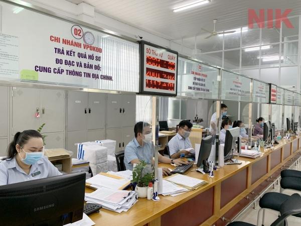 Cơ cấu tổ chức của văn phòng đăng ký đất đai được thực hiện theo đúng quy định hiện hành