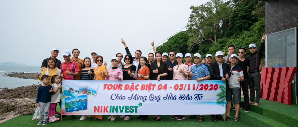 Ảnh chụp các nhà đầu tư NIK INVEST thăm đảo năm 2020