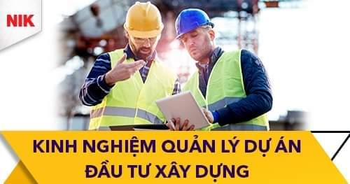 kinh nghiệm quản lý dự án đầu tư xây dựng