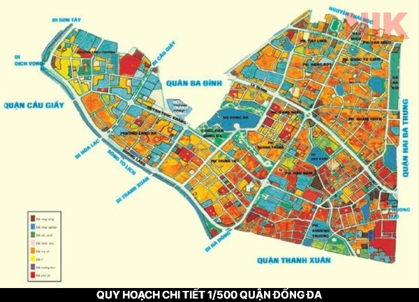 Bản đồ quy hoạch chi tiết 1/500 quận Đống Đa