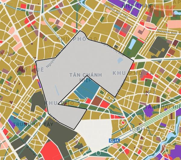 Bản đồ quy hoạch chi tiết tại phường Tân Chánh Hiệp quận 12
