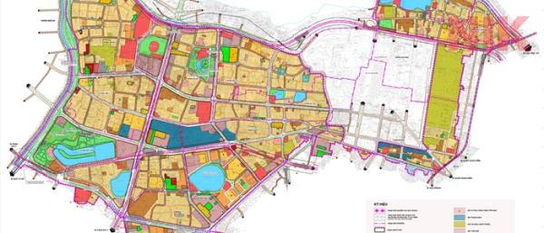 Bản đồ quBản đồ quy hoạch chi tiết quận Ba Đình phân khu H1-2 về giao thông