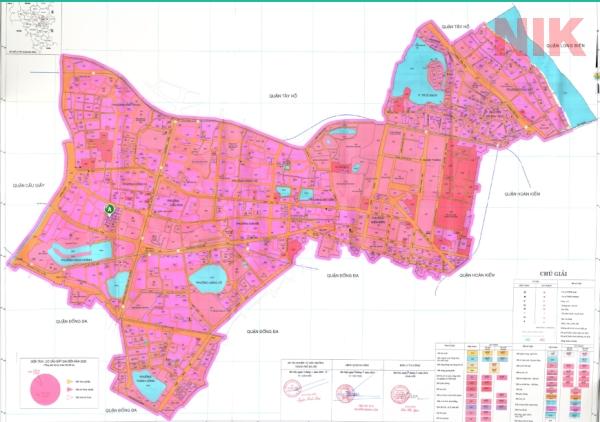 Bản đồ quy hoạch chi tiết quận ba Đình về giao thông