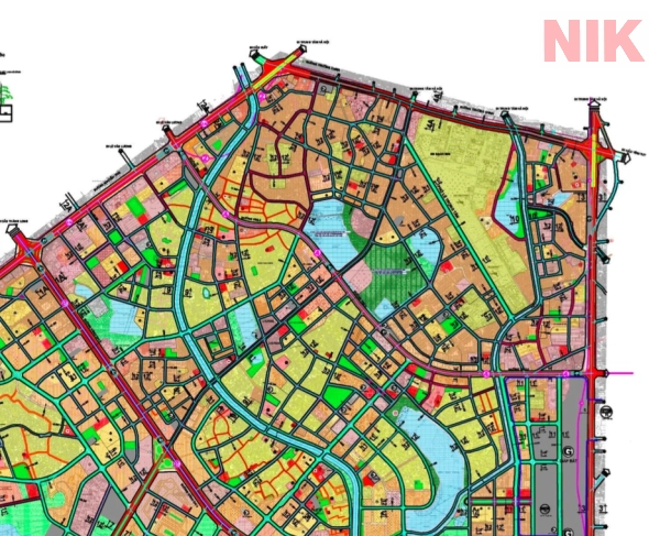 Bản đồ quy hoạch chi tiết quận thanh xuân giao thông phân khu H2-2