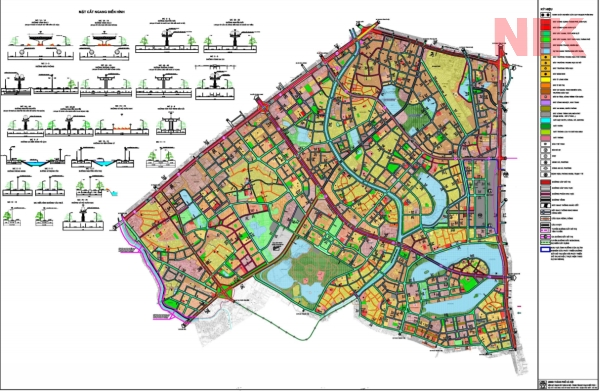 Bản đồ quy hoạch chi tiết quận thanh xuân giao thông phân khu H2-3
