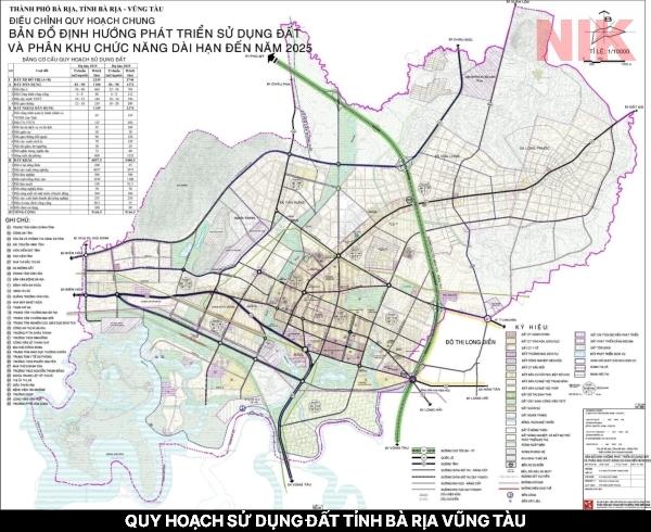 Bản đồ quy hoạch sử dụng đất tỉnh Bà Rịa Vũng Tàu