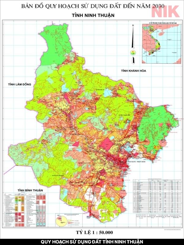 Tổng quan quy hoạch sử dụng đất tỉnh Ninh Thuận đến năm 2030
