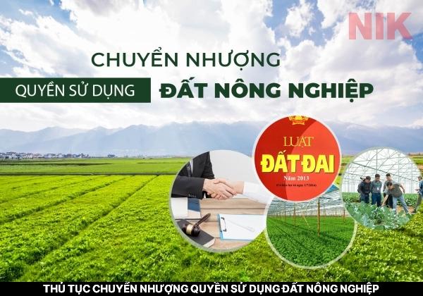 Thủ thục chuyển quyền sử dụng đất nông nghiệp phải được thực hiện theo đúng quy định của pháp luật