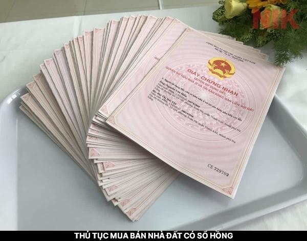 Thủ tục mua bán đất có Sổ hồng, sổ hồng giấy chứng nhận quyền sở hữu nhà ở và quyền sử dụng đất