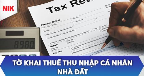 tờ khai thuế thu nhập cá nhân nhà đất