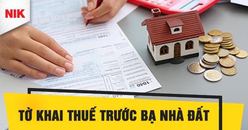 tờ khai thuế trước bạ nhà đất
