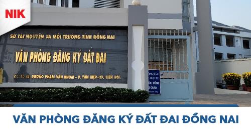 văn phòng đăng ký đất đai Đồng Nai
