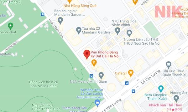 Định vị địa chỉ văn phòng đăng ký đất đai Hoàng Minh Giám