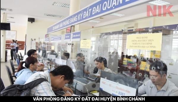 Văn phòng đăng ký đất đai huyện Bình Chánh