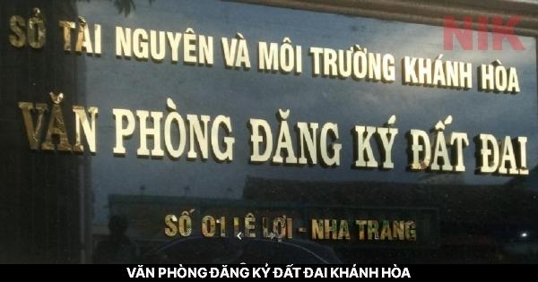 Văn phòng đăng ký đất đai Khánh Hòa
