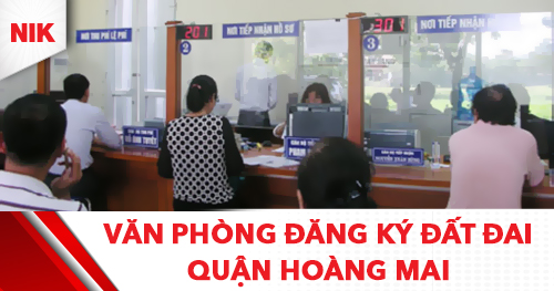 văn phòng đăng ký đất đai quận hoàng mai