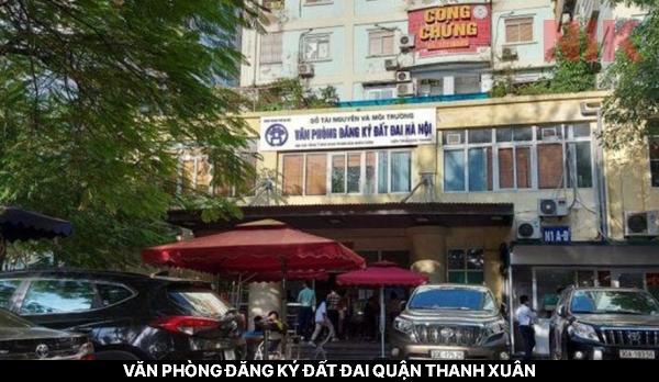 Văn phòng đăng ký đất đai quận Thanh Xuân