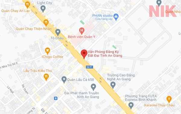 Định vị địa chỉ văn phòng đăng ký đất đai tỉnh An Giang