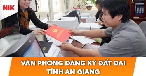 văn phòng đăng ký đất đai tỉnh an giang
