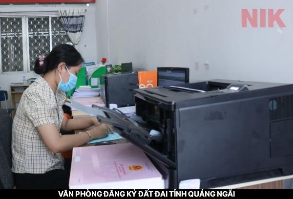 Địa chỉ văn phòng đăng ký đất đai tỉnh Quảng Ngãi