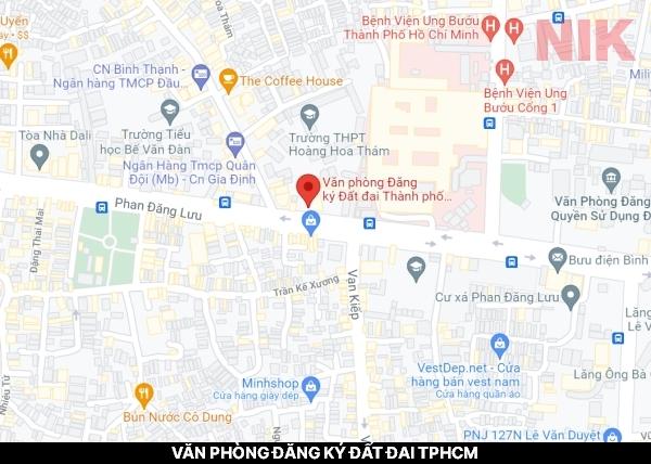 Định vị địa chỉ văn phòng đăng ký đất đai TPHCM